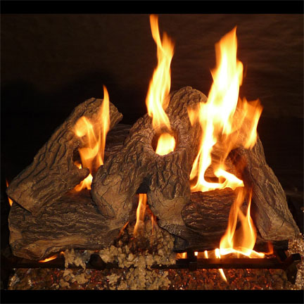 Natural Gas Fireplace Log – Home Décor – Home Furniture