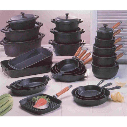 Household cast iron and stainless cookware